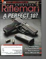 American Rifleman Magazine April 2014 SIG Sauer's .45 ACP P227, Henry's 1860 Gun