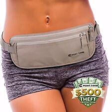 Premium Money Belt - $500 Theft Protection, RFID Blocking, 2 Credit Card Sleeves