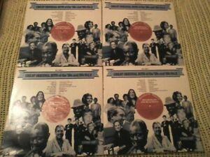 BULK LOT RECORDS VARIOUS ARTIST HITS OF THE 50s & 60s VOL 2 VINYL LP's X 4 ORIG
