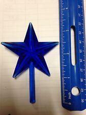 Blue Chunky Ceramic Christmas Tree Star Large