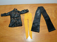 VINTAGE MEGO MADDIE MOD DOLL CLOTHES ACCESSORIES LEATHER JACKET PANTS BARBIE