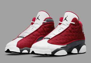 Air Jordan 13 Retro 'Flint Grey Gym Red' (GS) Size 6.5Y/Women's 8 [884129-600]
