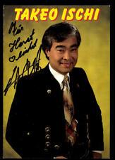 Takeo Ischi Autogrammkarte Original Signiert ## BC 47011
