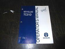 NEW HOLLAND TC21D TRACTOR OPERATORS MANUAL TC 21 D 1998