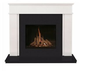 Hamilton 48 inch Marble Fireplace Suite with Anti Reflective Glass Gas Fire