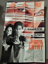 UNLAWFUL ENTRY (VIDEO DEALER 40 X 27 POSTER!, 1993) MADELEINE STOWE, KURT RUSSEL