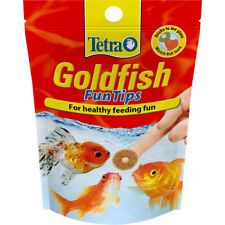 Tetra Goldfish Fun Tips Coldwater Aquarium Fish Food Adhesive Treats 20 Tablets