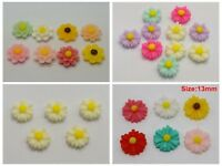50 Flatback Resin Daisy Flower Sunflower Cabochon Craft DIY Embellishments