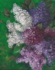 1.5x2 DOLLHOUSE MINIATURE PRINT OF PAINTING RYTA 1:12 SCALE EASTER LILAC FLOWER