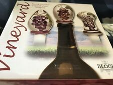 3 Crystal Handpainted Wine Stoppers (Set)
