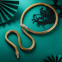 Snake Necklace Choker Animal Jewelry Statement Women Neck Chain Gold Party Gift