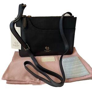Genuine Radley Black Leather Pockets Shoulder Strap Bag