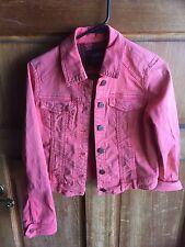 Anthropologie Sanctuary Jean Jacket Size S Watermelon Red