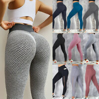Women PUSH UP Yoga Leggings Fitness High Waist Sports Gym Pants Workout Trousers