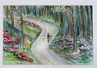 JEANNE V. ROGERS ORIGINAL FAUVISM ART FIGURES WATERCOLOR PAINTING ISLIP NEW YORK