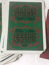 Vintage GOLDEN NUGGET CASINO Playing Cards - Red Box , Green Cards. Cliped