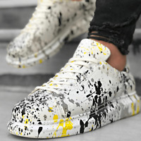 APOLLO PAINTED WHITE SNEAKERS 2 ALEXANDER MCQUEEN STYLE CUSTOM SNEAKERS
