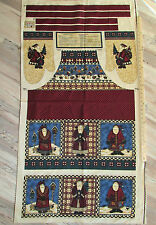 Birdhouse Santa Debbie Mumm Christmas Fabric APRON Panel 29""