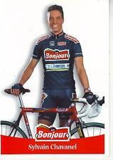 CYCLISME carte cycliste SYLVAIN CHAVANEL équipe BONJOUR .fr 2000