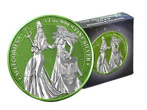 The Allegories 2019 Britannia & Germania 1 oz 999 Silber Space Green Edition