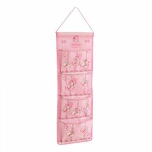 """Cute Melody Hanging Door Wall Pouch Home Organizer Storage Bags 4 Pockets 20""""x8"""""""