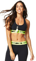 Zumba Let It Move You Scoop Bra - Back to Black Z1T01105