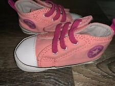 Converse All Star ~ Infant Baby Kids Pink Crib Shoes Girl's EUC (A) ~ 3