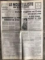 N24 La Une Du Journal Le Nouvelliste Du Morbihan 30 Mai 1941