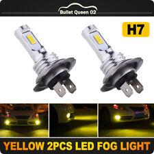 2x H7 LED Headlight Foglight Bulbs Kit Single Beam 70W 8000LM 3000K Amber Yellow