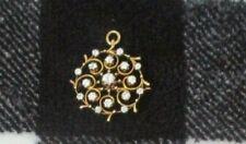"diamond 1"" diameter brooch/pendant Antique 1K yellow gold clear"