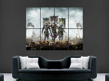 SAMURAI WARRIOR  POSTER VIKINGS ARMY SWORDS AXE FANTASY  ART WALL PICTURE