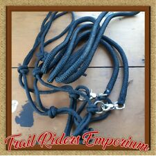 BITLESS Bridle Black nylon China - INCLUDES REINS! Budget One Size COB to FULL