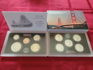 2018-S San Francisco Mint Silver Reverse Proof Set