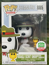 Peanuts - Beagle Scout Snoopy with Woodstock #885 Funko Shop Christmas Pop Vinyl