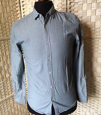 Kin John Lewis 100% Cotton Shirt Long Sleeve Green Stripe Size S Slim Fit