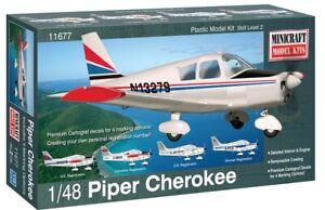 Minicraft Piper Cherokee W/ 4 Marking Options 1/48 Plastic Model Plane Kit 11677