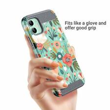 iPhone 11 Case Slim Stylish Shockproof Hybrid Scratch Shock Bumper Mint Floral