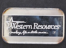 SilverTowne Western Resources Silver Art Bar Unlisted P1627