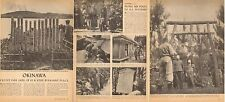 1945 WW2 print article on OKINAWA & people while battle still in progress 021217