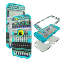 Hybrid Tuff Aztec Tribal Blue/Purple for Apple iPod Touch 5 Case Cover
