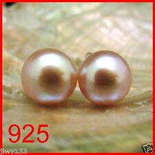 925 Sterling Silver AA PINK FW Pearl Stud Earrings Australia Seller!!! 153