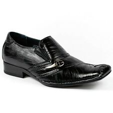 Black Boy's Kids Slip On Loafers Dress Classic Shoes w/ Leather Lining Conal