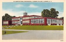 SC postcard Anderson Clemson College Agricultural Engineering University