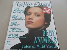 BABY ANIMALS -OZ ROLLING STONE MAGAZINE #471-1992-BRUCE SPRINGSTEEN-NICK CAVE-U2
