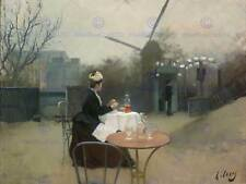 RAMON CASAS OUTDOOR MEAL WINDMILL PLEIN AIR ART PRINT POSTER PICTURE HP1063