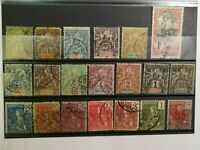 French Stamps -- France 1892-1912 Indo-China Used