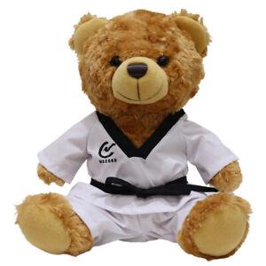 Childrens Plush Taekwondo Teddy Bear Kids Cuddle Martial Arts Gifts Christmas