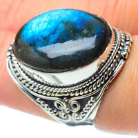 Large Labradorite 925 Sterling Silver Ring Size 7.75 Ana Co Jewelry R31923F
