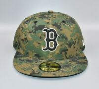 Boston Red Sox New Era 59FIFTY MLB Army Camo Fatigues Fitted Cap Hat Size: 7 1/4
