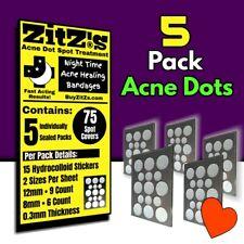 5pk ZitZs Acne Dot Spot Treatment Nighttime Pimple Patch • Acne Healing Bandages